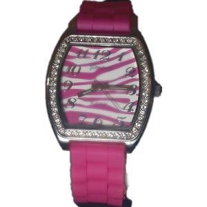 Geneva Platinum Pink Silicone Watch